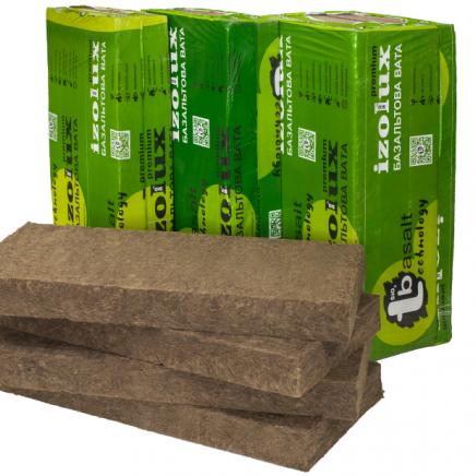 «Izolux Premium» slab. Density: 110/100/80/70/60/50/40/35/30/25 kg/m3